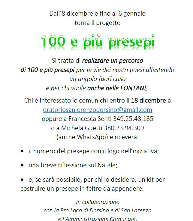 PROGETTO 100 PRESEPI2020-2021