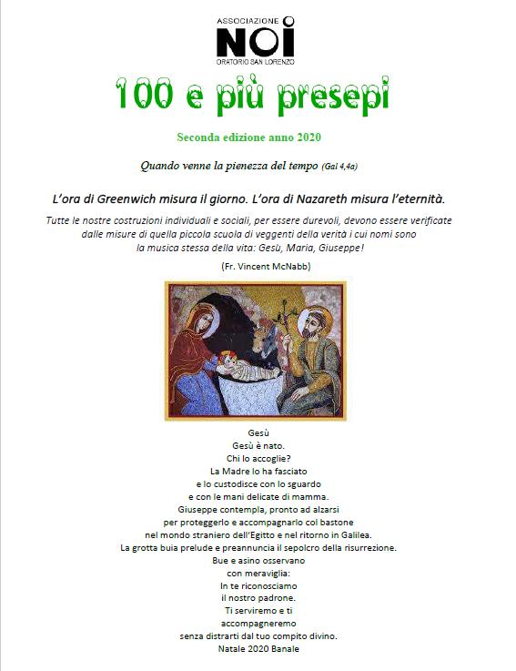 100 PRESEPI RIFLESSIONE